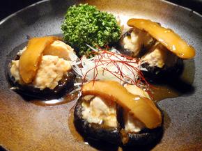 椎茸の鶏肉詰め松茸添え.jpg