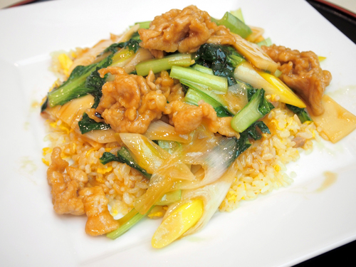 中国野菜と豚肉のあんかけ炒飯.jpg