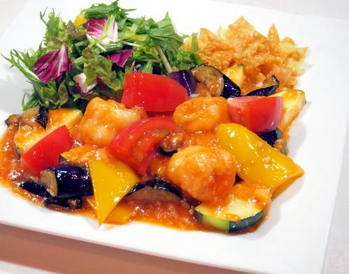 大海老と夏野菜のチリソースのコピー.jpg